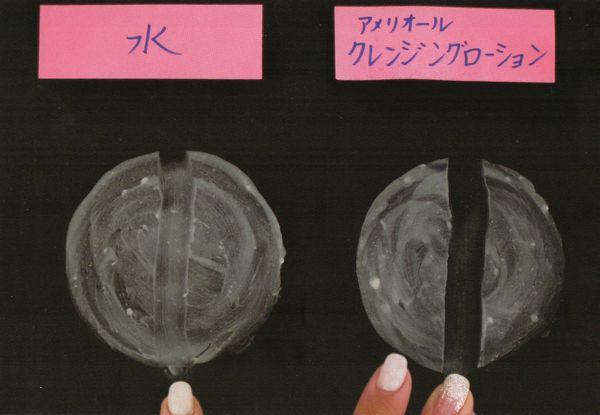 牛脂を使った実験画像です。